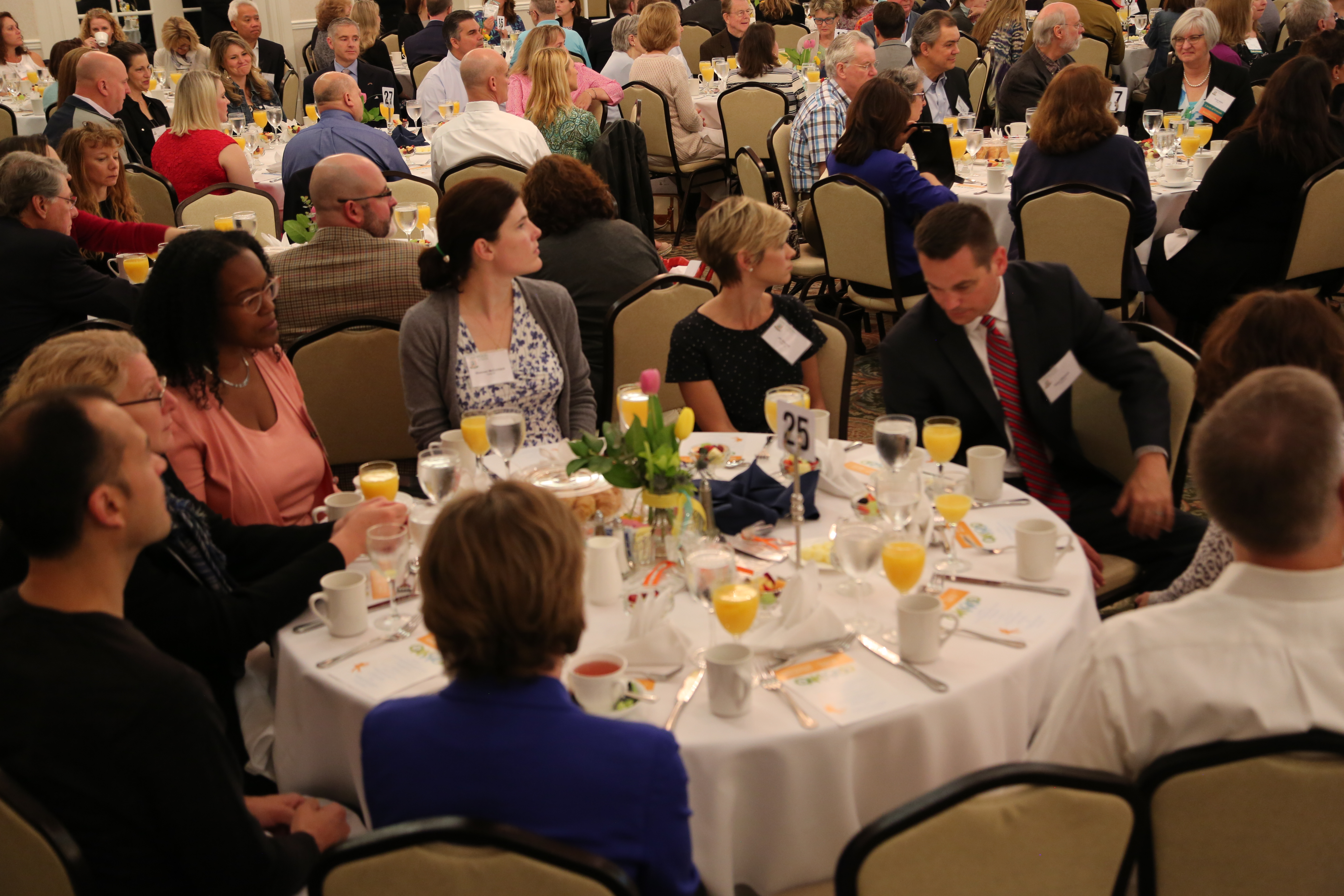 Friendship Breakfast attendees at tables