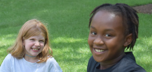 Two students at summer camp